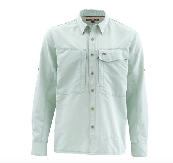 Simms Guide LS Shirt Marle Pale Green