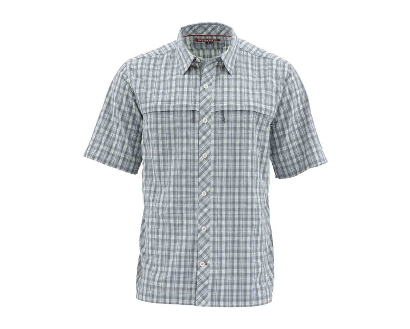 Simms Stone Cold SS Shirt - Storm Plaid