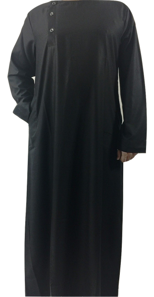Black Cross Button Toub Jubba
