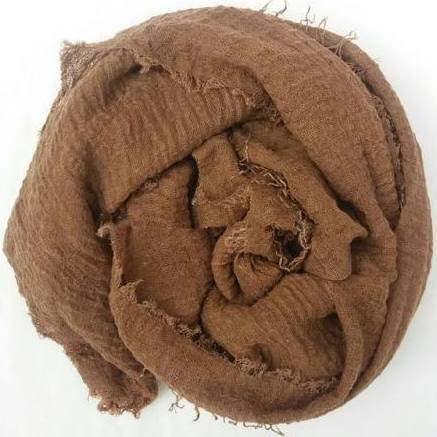 Light Brown Cotton Crinkle Hijab