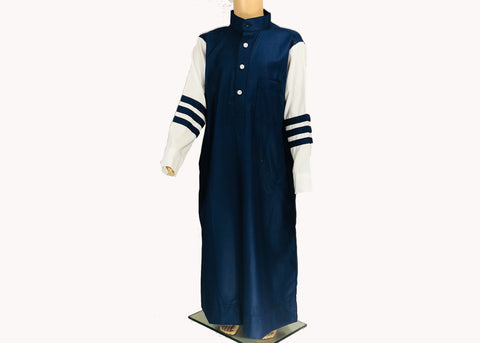 Navy Blue Strip Thobe