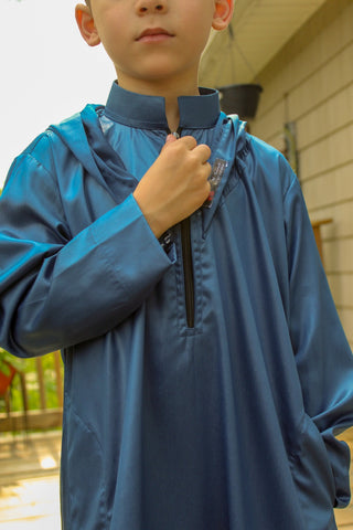 Blue Hoody Kid Thobe