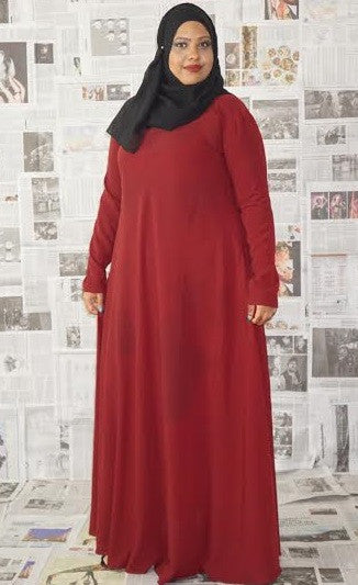 Flowy Abaya Dress Maroon