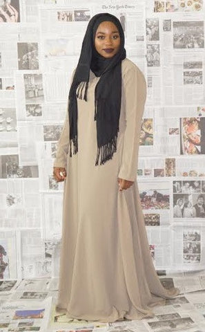 Flowy Abaya Dress Tan