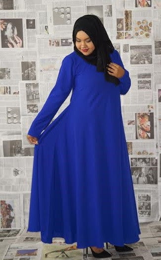 Flowy Abaya Dress Blue