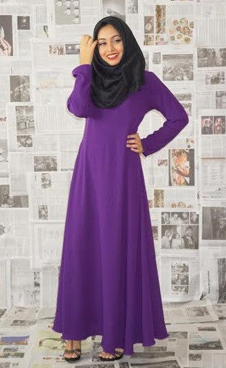 Flowy Abaya Dress Purple