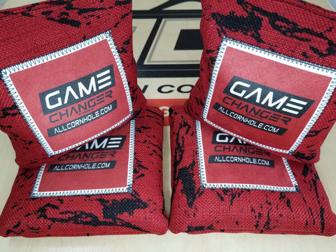Pro Cornhole Bags - Red Game Changer
