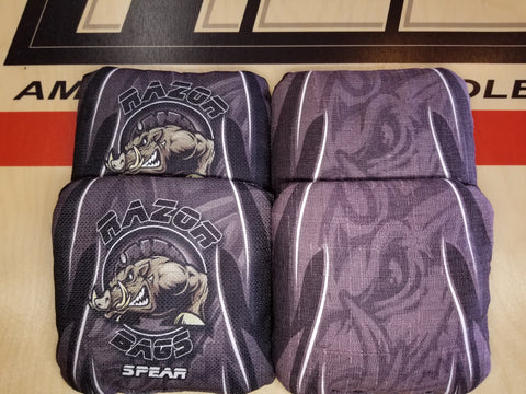 Razor Spear <br> Grey Tribal <br> New Pro Cornhole Bags
