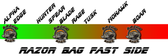 Razor Bags <br> Fast / Slow <br> Speed Chart