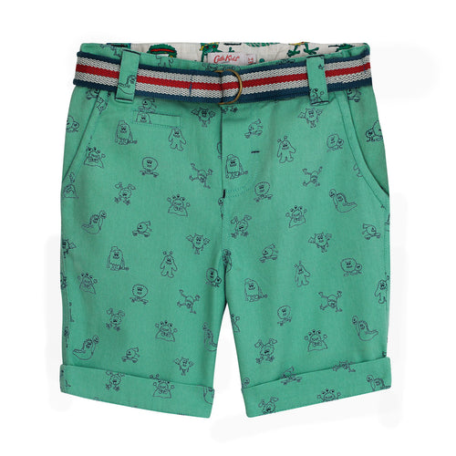 Cath Kidston Mono Monsters Shorts with Belt