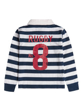 Boys Navy and White Rugby Shirt