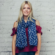 Feather Taisa Scarf - Blue