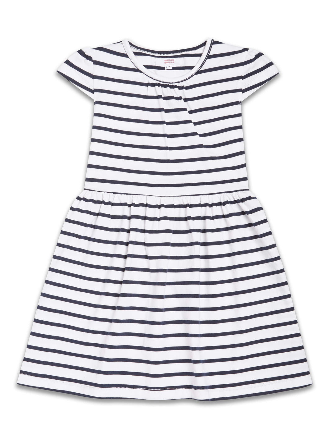 Girl Navy/ White Stripe Dress