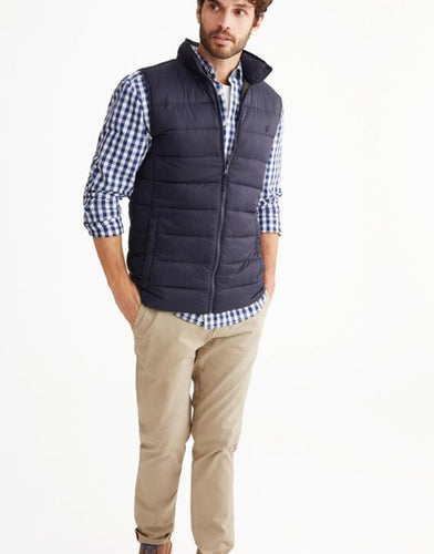 Joules Men's Go to Lightweight Padded Gilet - Marine Navy