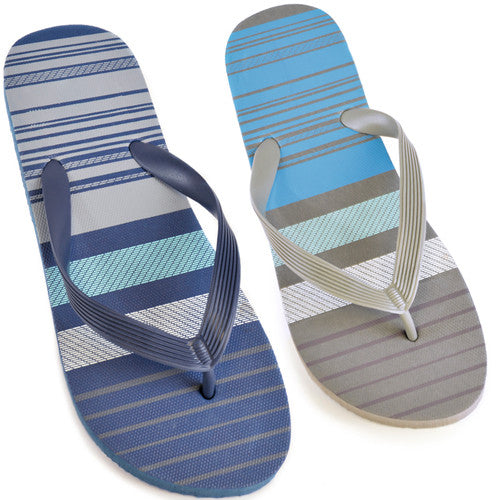 Men's Broad Stripe Flip Flops