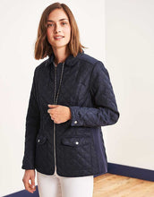 Ladies Crew Clothing Forres Quilted Jacket - Navy