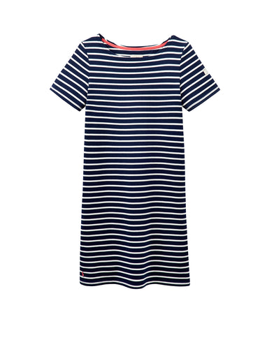 Joules Riviera T-Shirt Dress - Hope Stripe French Navy