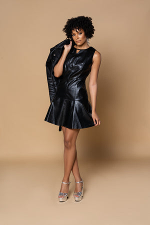 Asha Faux Leather Dress