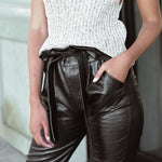 Anya Faux Leather Capri Pants