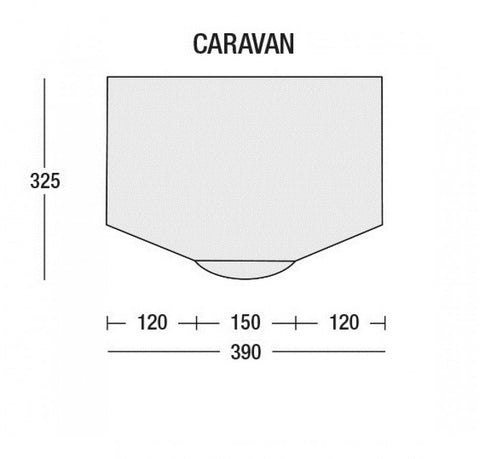 Floorplan Sunncamp Inceptor Air Extreme 390 Inflatable Caravan Awning