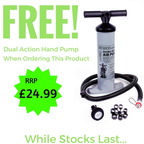 Free Dual Action Air Pump for Outdoor Revolution Cayman Pursuit Inflatable Driveaway Drive-Up Awning ORBK7300 (2019)