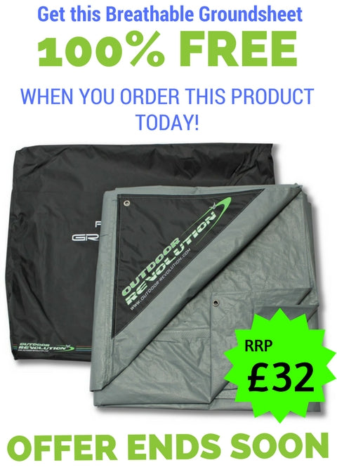 Free Groundsheet for Outdoor Revolution Airedale 12 Inflatable Tent OR18850 (2018)