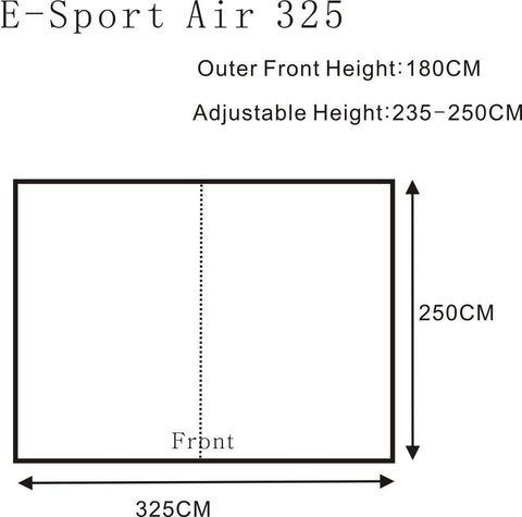 E Sport Air 325 Floor Plan - Quality Caravan Awnings