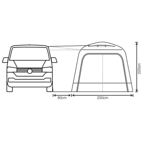 Outdoor Revolution Cayman Classic MK2 (F/G) (Low/High) Poled Drive-Away Awning + Free Footprint (2021)