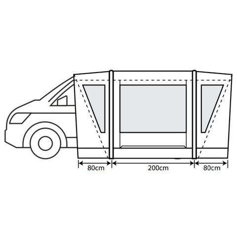 Outdoor Revolution Cayman Combo Air (Low/Mid) Inflatable Drive-Away Awning + Free Footprint (2021)