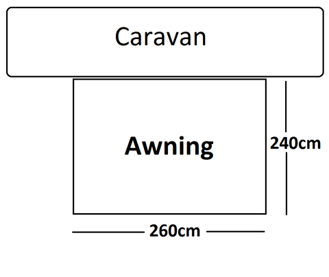 Swift-260-Awning-Size-Quality Caravan Awnings