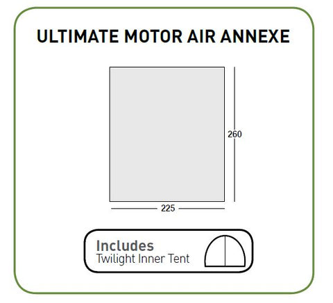Sunncamp Ultimate Motor Air Annexe - Quality Caravan Awnings