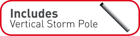 Verticle Storm Poles by Quality Caravan Awnings
