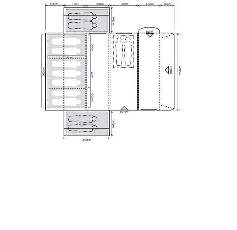 Outdoor Revolution Airedale 9.0SE Premium Nine (+4) Berth Family Air Tent with Side Annexe ORFT2040 + Free Footprint