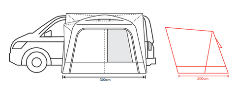Outdoor Revolution Cayman F/G (Low/Mid/High) Lightweight Poled Drive-Away Awning + Free Footprint (2021)