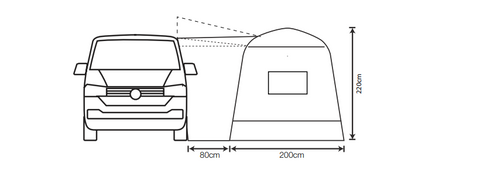 Outdoor Revolution Outhouse Handi (Low/Mid) Poled Drive-Away Awning (2021)