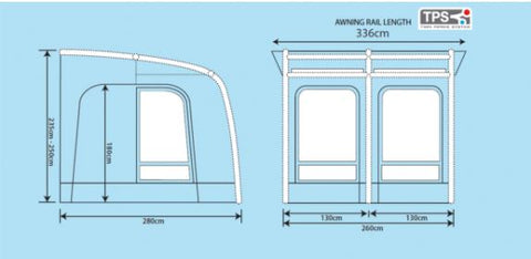 Outdoor Revolution Elise 260 Air Awning Floor Plan