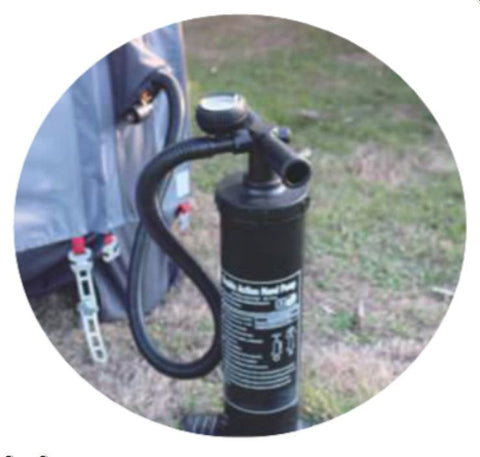 Free high pressure gauge pump for inflating caravan porch awning