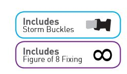 Sunncamp FREE storm buckles and figure of 8 fixing