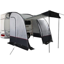 Royal Porch Awning 260 - Black/Silver + Free Storm Straps - Quality Caravan Awnings