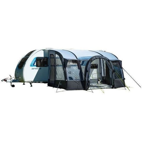 Image of Royal Loxley Air 390 Inflatable Awning (Grey) + Free Storm Straps - Quality Caravan Awnings