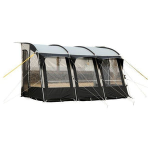Royal Wessex Awning 390 - Black/Silver + Free Storm Straps - Quality Caravan Awnings