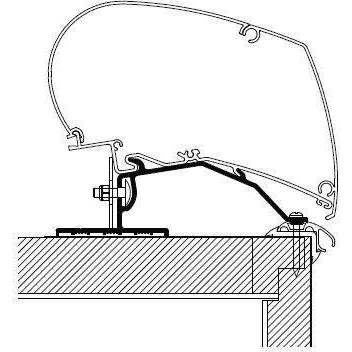 Thule Omnistor Caravan Roof Awning Adapter (3X 1,00M) 306757 made by Thule. A Add-ons sold by Quality Caravan Awnings