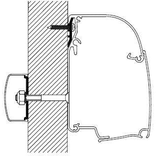 Thule Omnistor Universal Awning Rail Bracket 10 x 4.00m 309854 made by Thule. A Add-ons sold by Quality Caravan Awnings