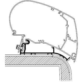Thule Omnistor Hymer 2013 Nova Roof Awning Adapter 306951 made by Thule. A Add-ons sold by Quality Caravan Awnings