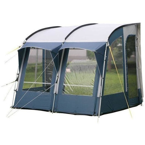 Image of Royal Wessex Awning 260 - Blue/Silver + Free Storm Straps - Quality Caravan Awnings