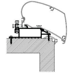 Thule Omnistor Roof Top Awning Adapter Series 6 308299