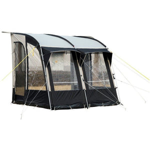 Royal Wessex Awning 260 - Black/Silver + Free Storm Straps - Quality Caravan Awnings
