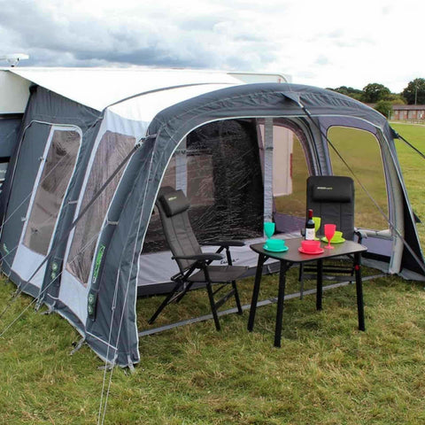 Image of Outdoor Revolution Europa 380 Pro Caravan Air Awning (2018) + Carpet made by Outdoor Revolution. A Air Awning sold by Quality Caravan Awnings