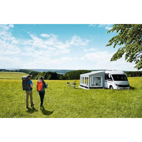 Thule Panorama Omnistor 8000 Awning Tent made by Thule. A Thule Awning Tent sold by Quality Caravan Awnings