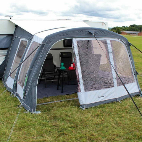 Outdoor Revolution Europa 380 Pro Caravan Air Awning (2018) + Carpet made by Outdoor Revolution. A Air Awning sold by Quality Caravan Awnings